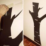 Colocar un vinilo en la pared de una habitación infantil