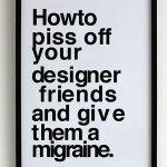 El Kerning(o cómo provocarle una migraña a un diseñador gráfico)