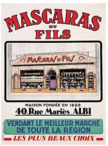 Cartel vintage mascaras et fils
