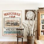 Cartel vintage francés en casa australiana