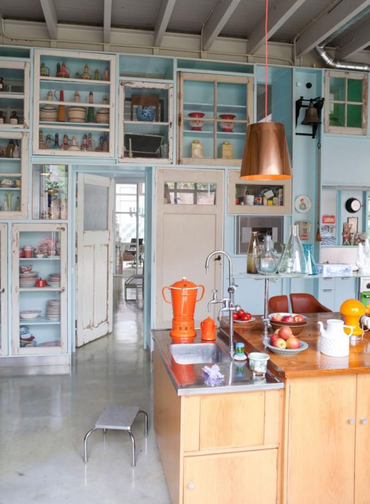 gekleurde-woonkeuken