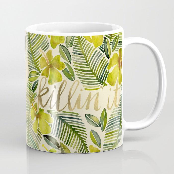 killin-it-tropical-yellow-mugs