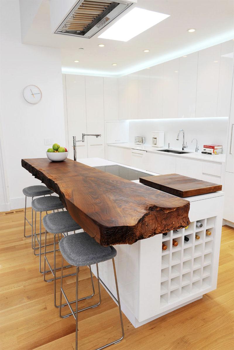 mesa madera bruto